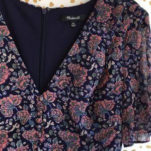 Madewell Orchard Flutter Sleeve Dress